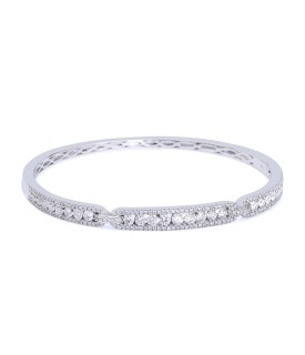 White Crystalline Bangle