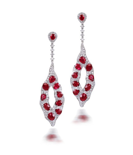 Ruby Orchard Earring